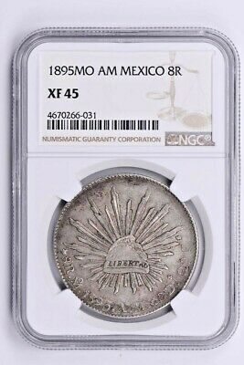 1895MO AM Mexico 8 Reales NGC XF 45  Witter Coin