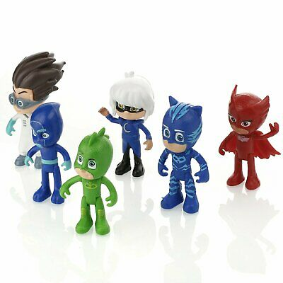 Set Lot 6 Figurines Les Pyjamasques Pjmasks Jeu Jouet Enfant Yoyo Bibou Gluglu