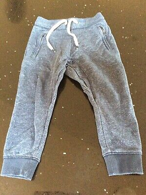 Boys H&M  Petrol Blue Fleck Jogger Trousers Age 3-4 Years