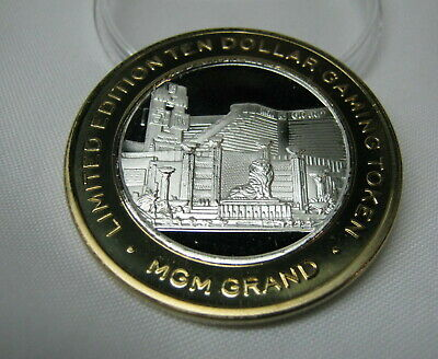 MGM Casino Las Vegas NV 2005 Casino Building $10 .999 Silver Strike Token G MM