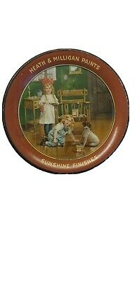 Antique 1900's Heath & Milligan Paints Sunshine Finishes Tin Lithograph Tip Tray