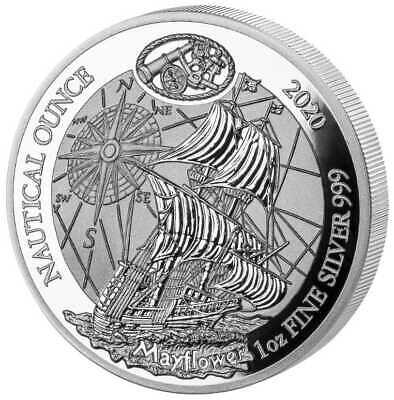 Nautical Ounce Mayflower 2020 1 OZ Silber Silver Argent PP Proof Ruanda
