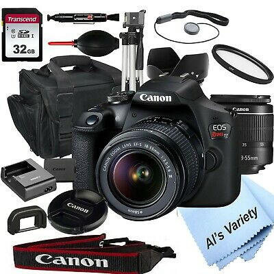 Canon EOS Rebel T7 DSLR Camera with 18-55mm f/3.5-5.6 Zoom Lens + 32GB+(18pc)