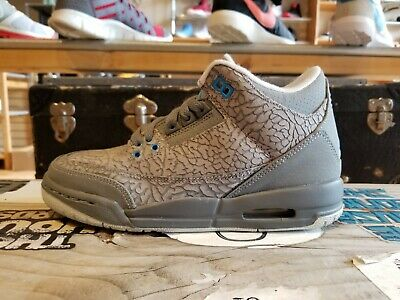 """Jordan 3 """"Cool Grey"""" 441140-015 (GS) Basketball Shoes 100% Authentic"""
