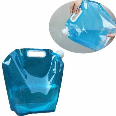 Portable Outdoor Bucket Drinking Bottle Folding Water Bag Carrier Containter