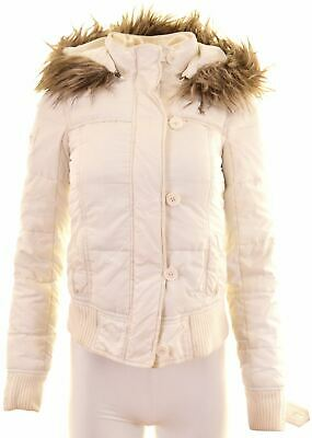ABERCROMBIE & FITCH Girls Padded Jacket 15-16 Years XL White Polyester  M009