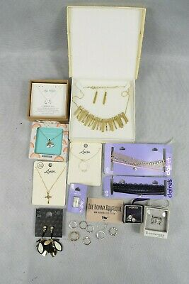 Job Lot Costume Jewellery Ring Necklaces Earrings Lovisa Claire's M&S Mostly New