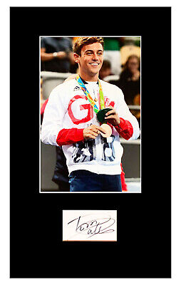 Signed Tom Daley Photo Display - Olympic Gold Medal Autograph +COA