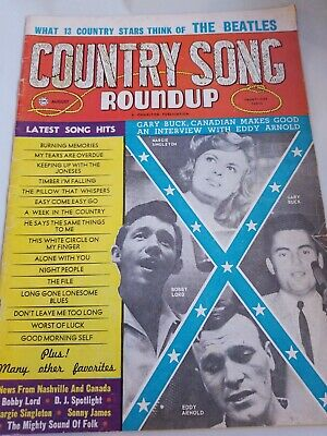 August 1964 Country Song Roundup Magazine Eddy Arnold Bobby Lord, Gary Buck
