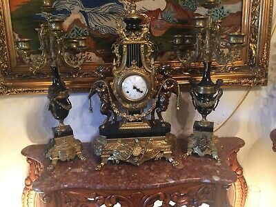 Italian antique clock And Candelabras