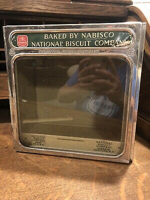 "Nabisco National Biscuit Company ""Uneeda Bakers"" Tin Glass Display Lid & Box"