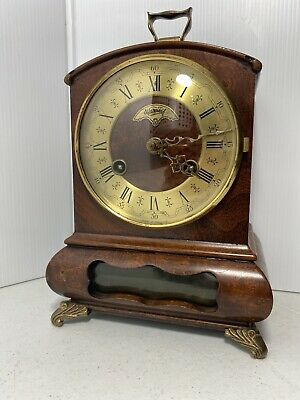 8 day Mantel Clock Warmink Dutch Mid Century (Hermle WUBA Junghans era)