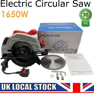 1650W Circular Saw Strong Tool Wood Tile Metal Blades 45° Scale Bevel Cuts 65MM