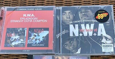NWA CDs Straight Outta Compton/EFIL4ZAGGIN & Best Of: Dr Dre, Ice Cube, Easy E
