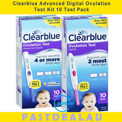 Clearblue Ovulation Test Advanced Digital 10 Tests Dual Hormone Indicator