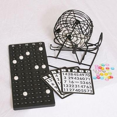 Complete Bingo Cage Set For Home Use (rotary cage, masterboard, cards, balls)