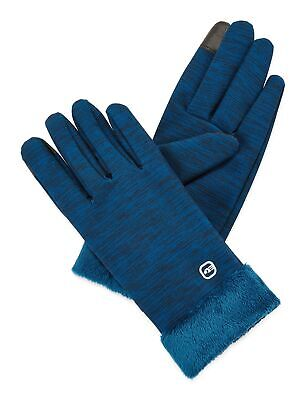 Free Country Womens Touchscreen Lined Winter Texting Gloves - Deep Lagoon S/M