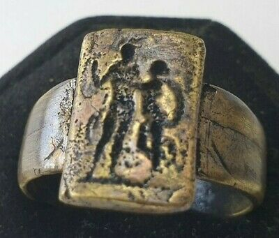 Ancient Bronze Ring-Vintage-Antique ROMAN-RARE