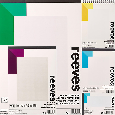 Reeves Watercolour, Drawing, Pastel, Oil, Acrylic & Craft Pads - ALL SIZES