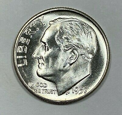 1957 Silver Roosevelt Dime Choice/Gem Uncirculated  - Free Shipping