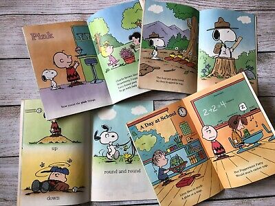 Lot of 4 Snoopy And Friends Book Vintage 1987 Golden Books Illustrated Peanuts