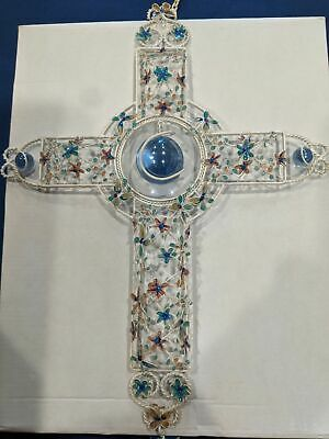 Wind Chime Cross Filigree Flowers Relaxing Religious