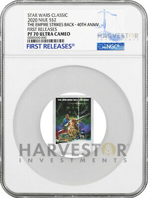 Star Wars Empire Strikes Back 40Th Anniv. Poster Coin - Ngc Pf70 First Releases