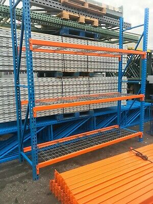"One Section 30""D Tear Drop Pallet Racking."