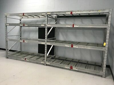 "2 Sections Heavy Duty Pallet Racking, 44""W x 96""H..."