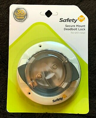 Safety 1st Secure Mount Deadbolt Lock - No-Drill Install HS162 ~Brand New!~