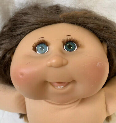 Cabbage Patch Kid Doll With Brown Hair And Rooted Eyelashes