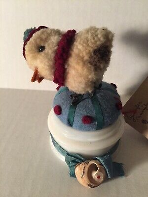 """Baby Gull"" one-of-a-kind by Jennifer Murphy handmade 3.5"" figurine"