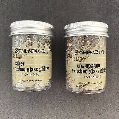 Stampendous Frantage Crushed Glass Glitter Silver or Champagne