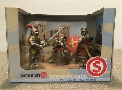 Schleich Ritter Red Knight Climbing Ladder #70058 New in Box Rare Free Shipping