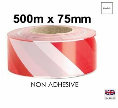 WARNING HAZARD BARRIER TAPE, NON ADHESIVE,SAFETY PVC 500 Metre