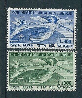 Vatican City 1949 Angels over the Globe Airmail Pair Mint Hinged CV £243