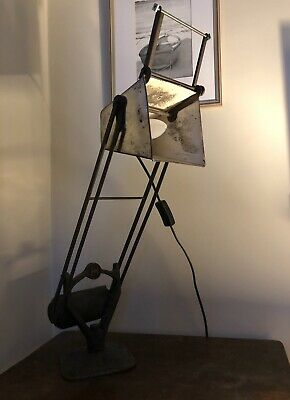 Early Hadrill & Horstmann 'Pluslite' industrial counterbalance lamp. 1940s.