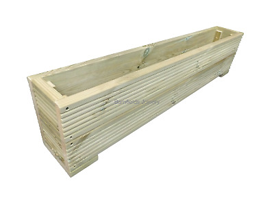 Large Wooden Decking Planter Trough, Raised Flower bedding, plant box 60cm-119cm