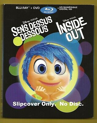 Disney Inside Out SLIPCOVER fits blu-ray case and 5 collectible character cards