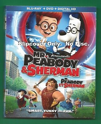 Mr. Peabody and Sherman SLIPCOVER ONLY fits blu-ray case
