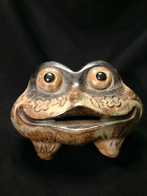 Japanese Bank Ceramic Frog/Piggy Bank/Bullfrog/Japan