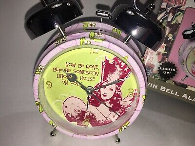 Wizard Of Oz Twin Bell Light Up Alarm Clock Glinda Good Witch Warner Bros. 2008