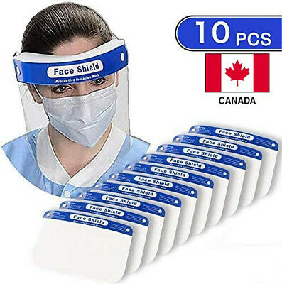 Anti-droplet Full Face Cover Safety Protective Visor Shield (10 packs)