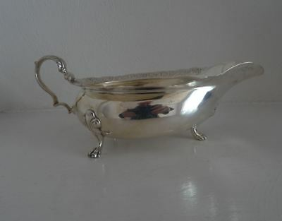Rare George V Scottish Silver Sauce Or Gravy Boat Mackay & Chisholm Edinburgh