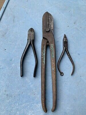 Collection Of Vintage Tin Snips Pliers Gilbow Elliot Lucas