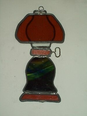 """Vintage"" ~ Leaded Stained Glass Old Style Lantern ~ Art Glass Sun Catcher"