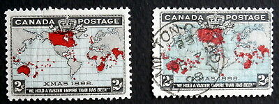 CANADA - Queen Victoria :1898, Mint/Used Imperial penny Postage , Scott #85-86