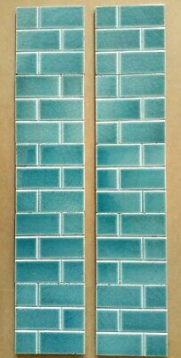 Origanal set of 10 turquoise blue tiles