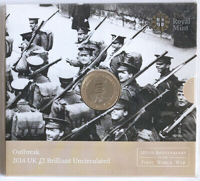 The Royal Mint Outbreak First World War - £2 Coin 2014 Brilliant Uncirculated