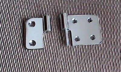 """Lift Off Hinges 3.5"""" x 2"""" CFL Waterfront Brass, Polished Chrome (Lot of 60)"""